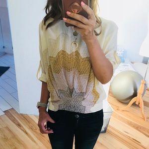 Silk half sleeves blouse